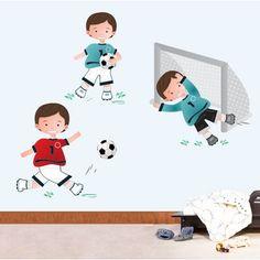 Adesivo de Parede Jogo Futebol | Grudado
