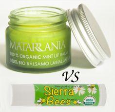 Bálsamos labiales de menta de cosmética natural: Matarrania vs Sierra Bees :)