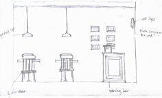 Elevation 2 Cafe Shop, Floor Plans, Diagram, Coffee Shops, Coffee Store, Floor Plan Drawing, House Floor Plans