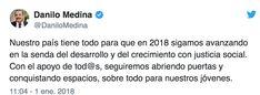 Danilo Medina Felicita Al Pueblo Dominicano Con Motivo De Año Nuevo