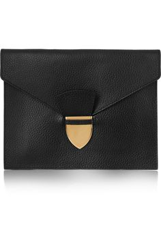 Sophie Hulme Textured-leather pouch NET-A-PORTER.COM