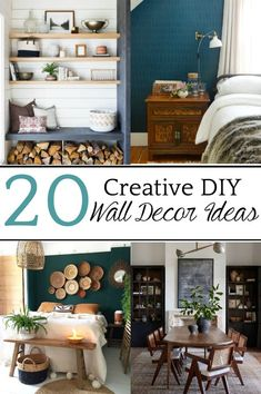 20 Creative DIY Wall Decor Ideas | A round-up of 20 of the best DIY wall decor ideas plus tutorials and tips to pull off the look easily and get the designer look for less. #walldecor