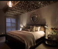 Gentil Twinkle Lights, Bedroom Inspo, Master Bedrooms, Humble Abode, Buildings,  Bedroom Suites, String Lights, Fairy Lights, Master Bathroom