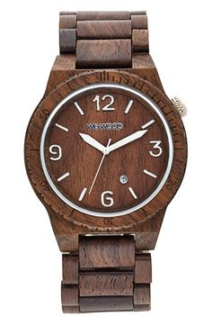 Nick gift? WeWOOD 'Alpha' Wood Bracelet Watch, 46mm available at #Nordstrom