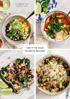 How to Make Cauliflower Rice + Cauliflower Rice Recipes
