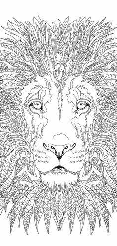 Lion Coloring pages Printable Adult Coloring book Lion Clip Art Hand Drawn…