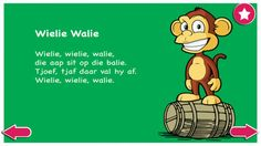 Kinderrympies in Afrikaans Afrikaans, Ipod Touch, Mobile App, Disney Characters, Fictional Characters, Classroom, Iphone, Learning, Apps