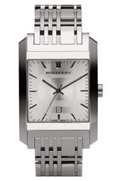 Burberry Timepieces Check Dial Square Case Watch