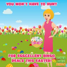 There's no need to hunt out a great Easter bingo deal, as we've found them all for you! Visit http://www.superfreebingo.com/pinterest1 to pick a perfect bingo offer now!