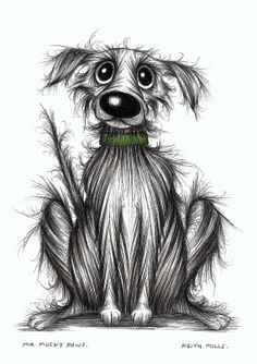Mr Mucky paws Smelly grubby dog picture Original by KeithMills, £25.00