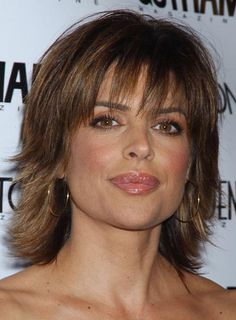 Shag Haircuts For Fine Hair | When Lisa Rinna dresses up, she goes for a more polished finish. Steal ...