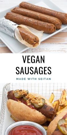Homemade Vegan Sausages #vegan #sausages #seitan #meatless #meatalternative