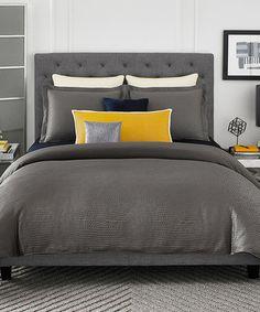 Love this Metallic Gray Berlin Comforter Set by Pem America on #zulily! #zulilyfinds