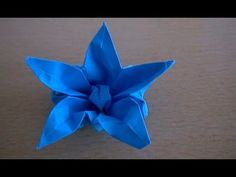 Five petal origami flower v13 - YouTube