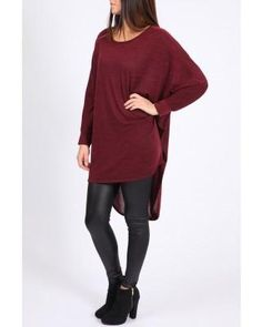 red oversized jumper Oversized Jumper, Knitwear, Turtle Neck, Elegant, Red, Sweaters, Wine, Collection, Tops