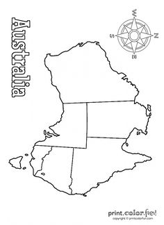 Map of Australia coloring page - Print. Color. Fun!