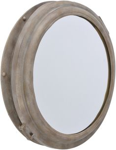 Marseille Industrial Antique Grey Porthole Mirror