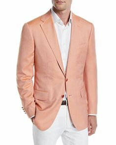Stefano Ricci Designer Men's Solid Two-Button Jacket