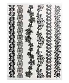 Loving this Black Thin Lace Bracelet Temporary Tattoo Set on #zulily! #zulilyfinds