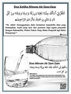 Bacaan Doa Ketika Meminum Air Zam Zam Lengkap Arab Latin Dan Artinya Hijrah Islam, Doa Islam, Muslim Quotes, Religious Quotes, Islamic Inspirational Quotes, Islamic Quotes, My Dua, Learn Islam, Islam Facts