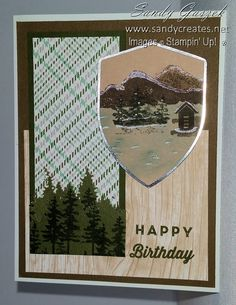 Paper Pumpkin-May 2018 - Manly Moments Pumpkin Cards, Paper Pumpkin, Pumpkin Ideas, Stamping, Flora, Happy Birthday, Scrapbooking, In This Moment, Frame