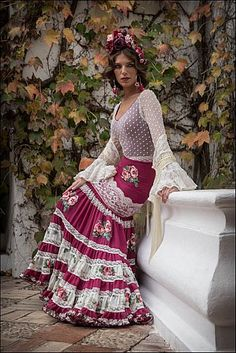 Colección moda flamenca 2016 Flamenco Costume, Flamenco Skirt, Flamenco Dresses, Mexican Dresses, Indian Dresses, Grad Dresses, Bridal Dresses, Spanish Style Weddings, Spanish Dress