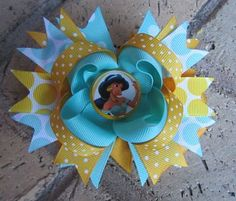 Princess Jasmine Disney World Vacation Boutique Hair Bow Costume