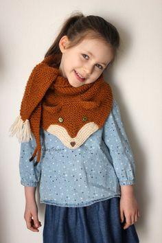 FOX trot Scarf Knitting pattern par KatyTricot sur Etsy