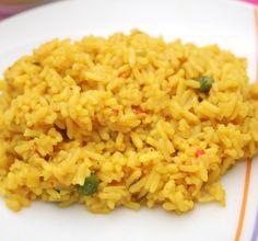 Curryreis - eine tolle Beilage, die zu vielen Fleischgerichten passt.  #Reis #Curry