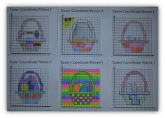 FREEBIE - Easter Co-ordinate, Graphing, Ordered Pairs Pictures