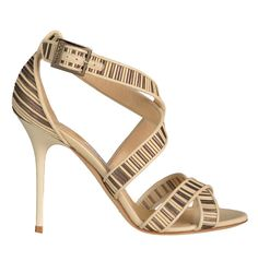 Jimmy Choo textured leather sandals, $750, Saks Fifth Avenue.