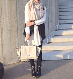 elegant hijab style ankle boots