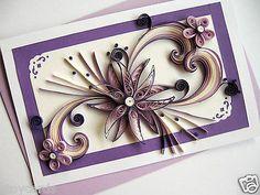 Handmade Birthday Valentine Day Card in Lilac for Mum Wife Sister Girl | eBay