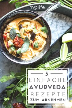 Slim & firm with Ayurveda: recipes for the dream figure simple Ayurveda re . - Slim & firm with Ayurveda: recipes for the dream figure simple Ayurveda recipes, Ayurveda as a drea - Detox Recipes, Paleo Recipes, Soup Recipes, Lean Recipes, Pizza Recipes, Free Recipes, Le Diner, Rigatoni, Different Recipes