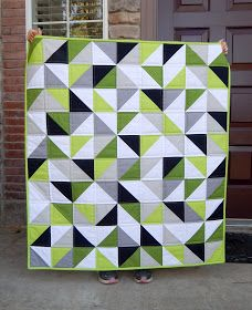 40 x 45 This is my second solid half square triangle baby quilt. You can see my first one here . These are so fun to make. I'd real...