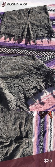 Beautiful lace shorts Beautifully detailed lace shorts! These shorts are so so cute!! They have never been worn, have absolutely nothing wrong with them are in brand new condition!! Best offer :) Monoreno Shorts