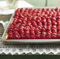 Fresh Raspberry Almond Tray Tart