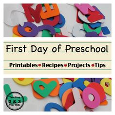 back to school ideas for parents - printables, recipes, projects and tips to make that first day more successful from Teaching 2 and 3 Year Olds Preschool Printables, Preschool Classroom, Preschool Learning, Preschool Activities, Teaching, Preschool Projects, Daycare Crafts, Kindergarten, 1st Day Of School