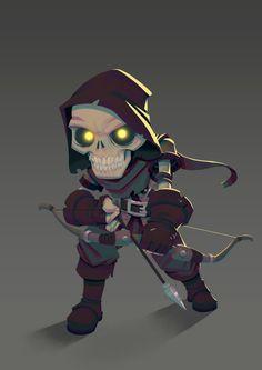 Character design (Skeleton), Leo Chiola on ArtStation at https://www.artstation.com/artwork/ODlob
