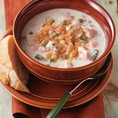 Slow cooker chicken chowder that is flavorful, hearty and easy.