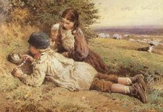 """The Bird's Nest"" ~Myles Birket Foster"
