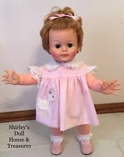"""Vintage Antique Ideal KISSY Baby Doll Stands 22""""  WORKS!!! CLEAN!!!"""
