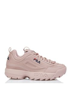 newest collection 2047b c3d2f Fila Disruptor Low en cuir Rose by FILA Collection Printemps, Chaussures  Femme, Cuir,