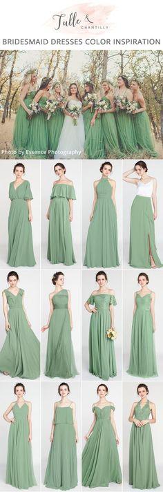 moss greenery bridesmaid dresses for 2018 #bridesmaiddresses #bridalparty