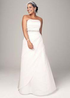Satin A-line with Asymmetrical Skirt AI13020027