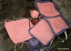 Swirls and Sprinkles: free crochet afghan letter block patterns