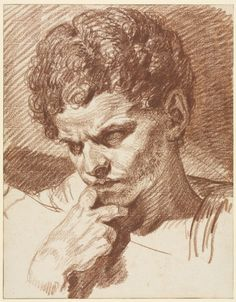 Jean-Baptiste Greuze (French, 1725-1805) Head of Caracalla   Cleveland Museum of Art