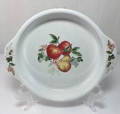 Corelle Chutney 9\  Pie Plate Stoneware Fruit Pattern | eBay & $9.99 SET 4 CORELLE CORNING COORDINATES STONEWARE COASTERS CHUTNEY ...