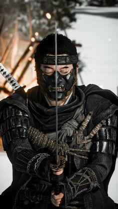 Japanese Demon Mask, Japanese Warrior, Arte Ninja, Ninja Art, Ronin Samurai, Samurai Warrior, Tattoo Samurai, Ninja Japan, Henn Kim