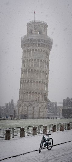 Winter and Snow....Let it snow! Leaning Tower of Pisa, Italy | by diabbolo